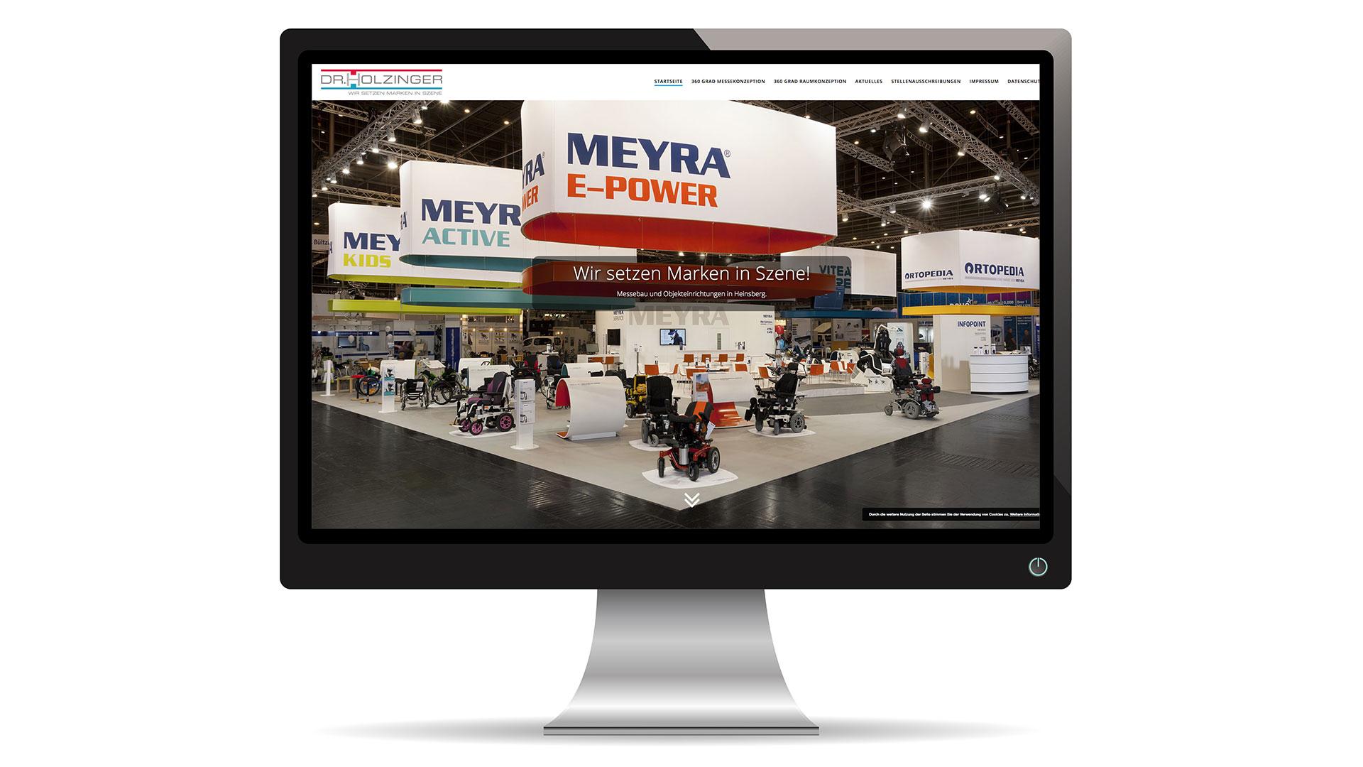 Webseite Messebau