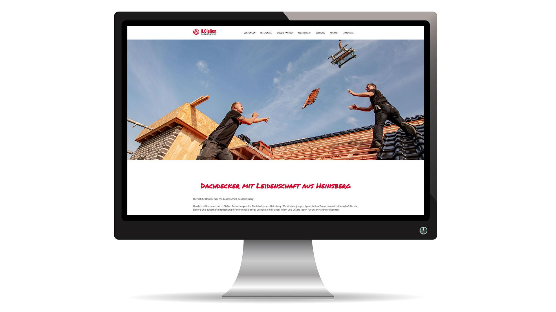 Webseite Dachdecker