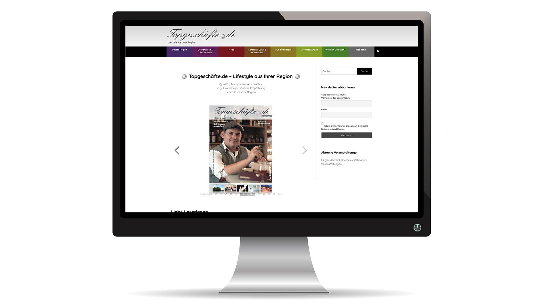 Webseite Topgeschäfte